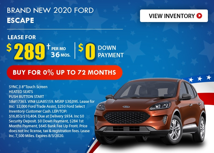 Ford Escape Deal - July 2020