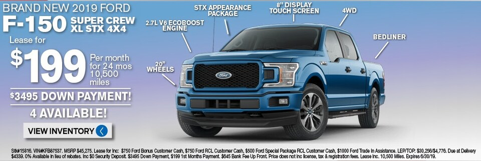 Ford F150 lease deals and sale June 2019