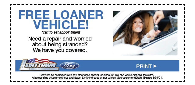 Free Loaner Vehicle Special