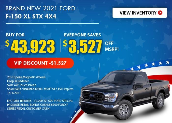 Ford F-150 XL STX Deal - January 2021