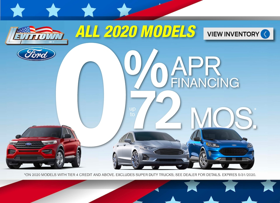 0% APR 72 months on most 2020 models May 2020