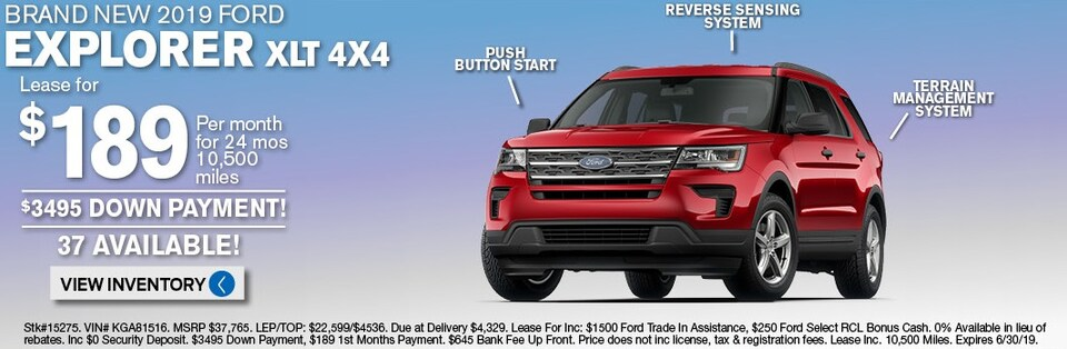 Ford Explorer Lease Deals and sale June 2019