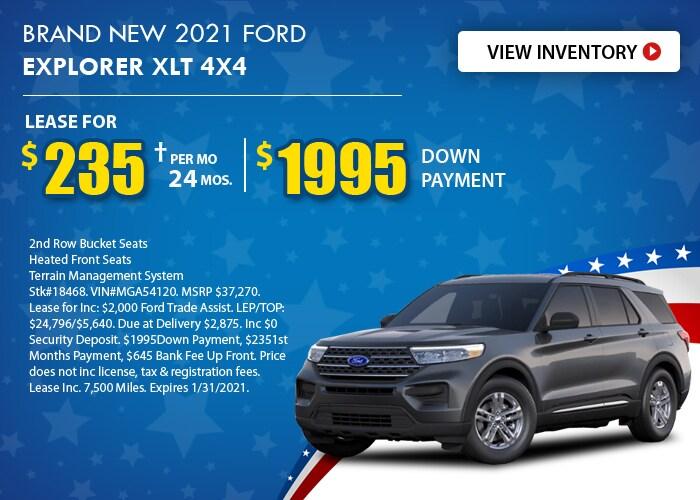 Ford Explorer XLT Deal - January 2021