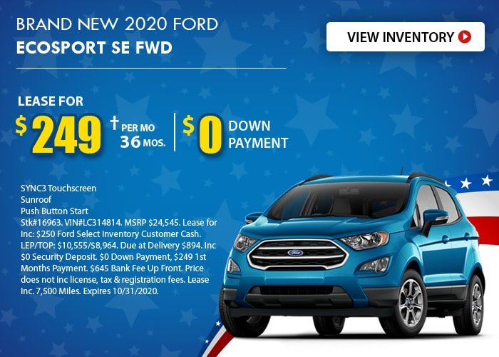 Ford EcoSport Deal - October 2020