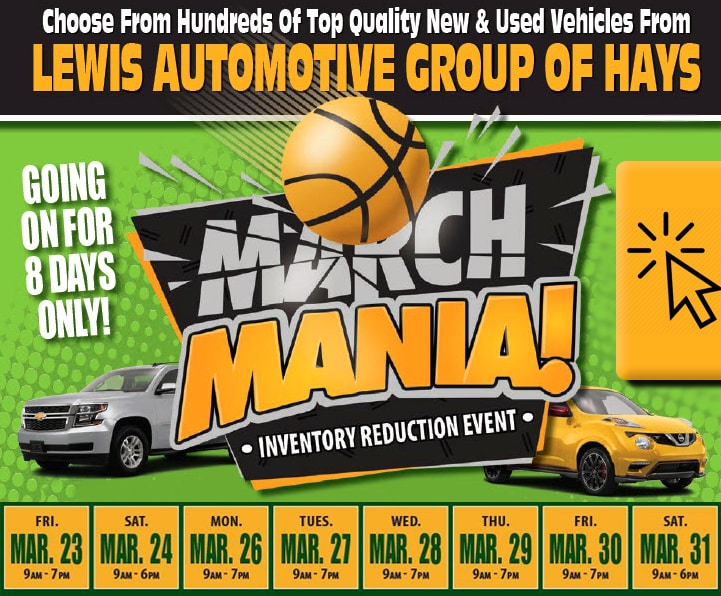 MARCH MANIA - INVENTORY REDUCTION EVENT