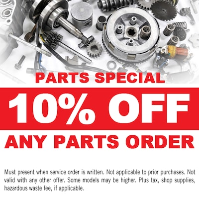 10% OFF Any Parts Order