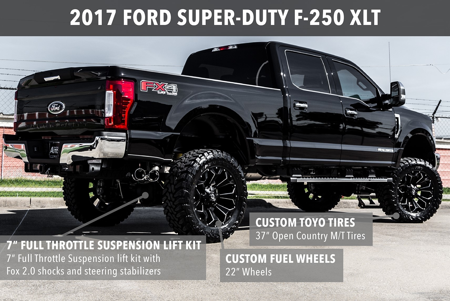 Lewisville Autoplex Custom Lifted Trucks View Completed Builds Ford F 250 With 35 Inch Tires 2016 Super Duty Srw Lariat