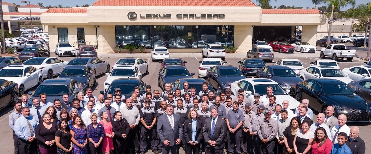 Lexus Carlsbad dealership and staff