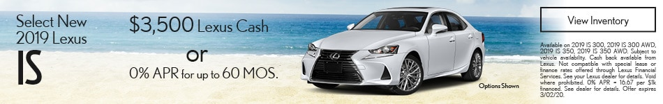 Select New 2019 Lexus IS
