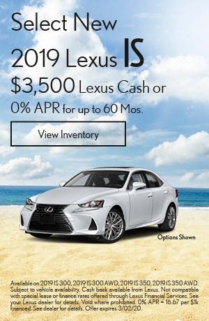 Select New 2019 Lexus IS