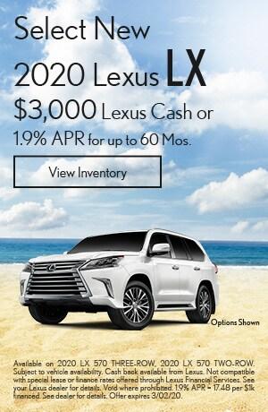 Select New 2020 Lexus LX