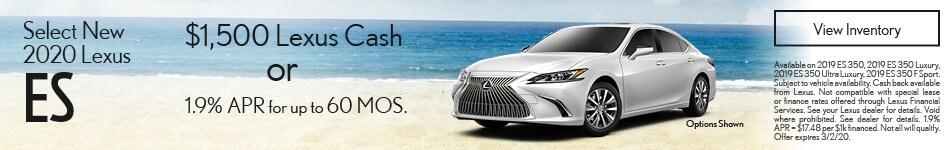 Select New 2020 Lexus ES
