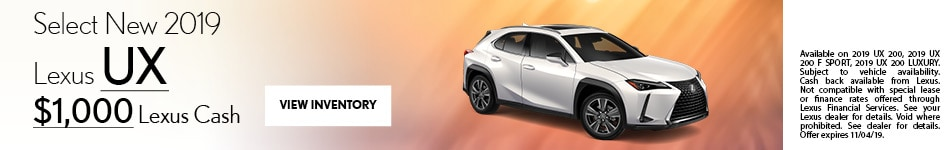 Select New 2019 Lexus UX