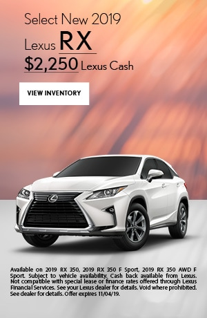 Select New 2019 Lexus RX