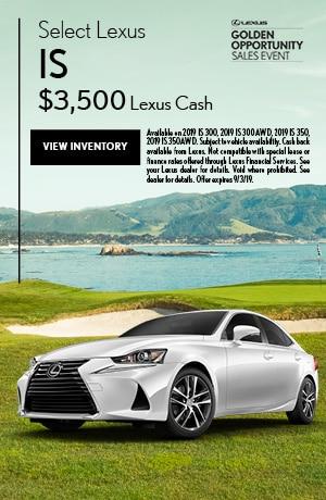 Select Lexus IS