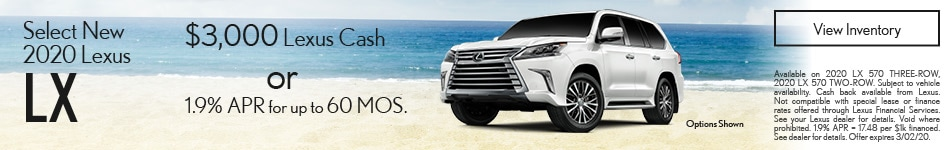 Select New 2020 Lexus LX