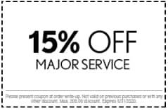 15% Off Major Service