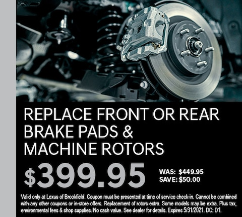 Replace Front or Rear Brake Pads & Machine Rotors