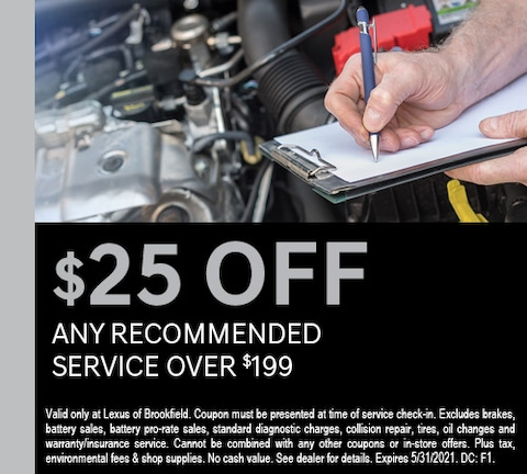 $25 Off Any Recommended Service Over $199