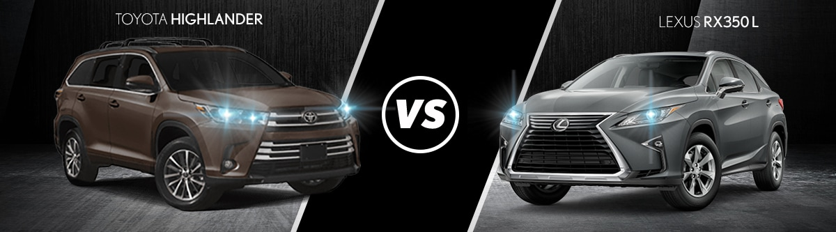 toyota highlander vs lexus rx 350l comparison