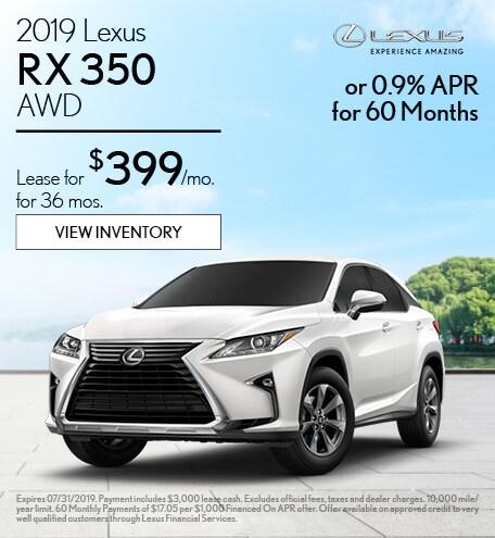 2019 - RX 350 - July