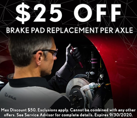$25 Off Brake Pad replacement per axle