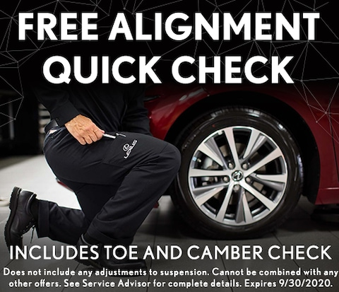Free Alignment Quick Check Includes Toe and Camber Check