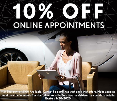 10% Off Online Service Appointments