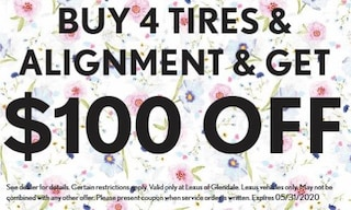 Buy 4 Tires & Alignment, Get $100 off