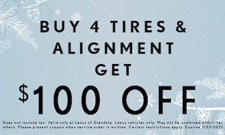 Buy 4 Tires & Alignment - $100 Off