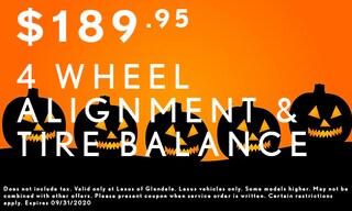 4 Wheel Alignment & Tire Balance