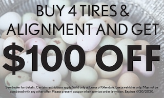 Buy 4 Tires & Alignment & get $100 off