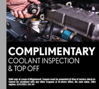 Complimentary Coolant Inspection and Top Off