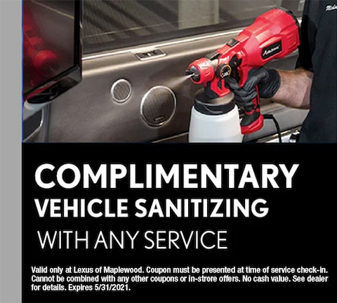 Complimentary Vehicle Sanitizing With Any Service