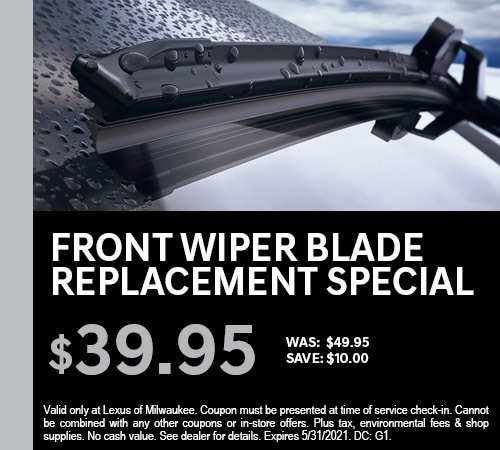 Front Wiper Blade Replacement Special