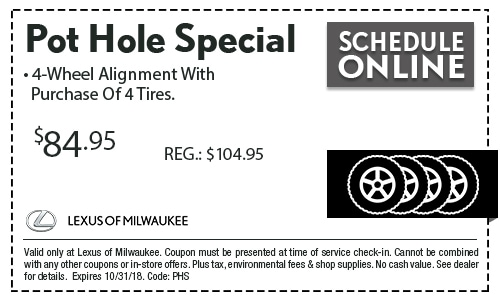 Pot Hole Coupon Special