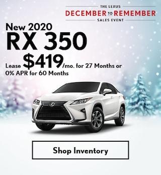 New 2020 RX 350