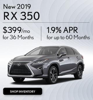 New 2019 RX 350