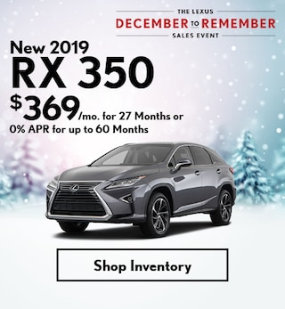 New 2019 RX 350