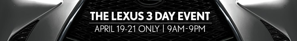 The Lexus 3 Day Sale
