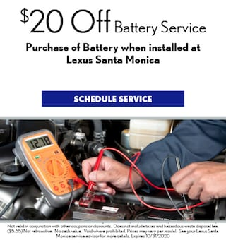 $20 Off Battery Service