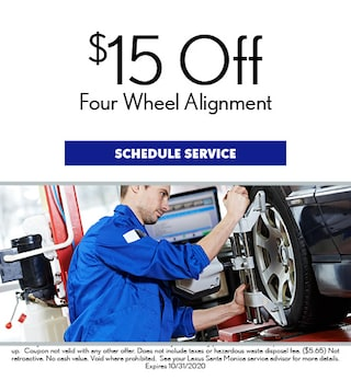 $15 Off Four Wheel Alignment