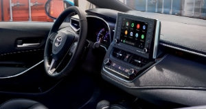 2021 Toyota Corolla interior with media display