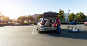 loading cargo into the Honda Odyssey