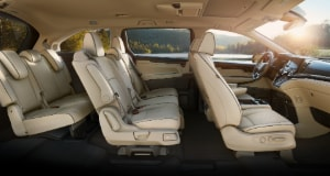 Honda Odyssey interior seating
