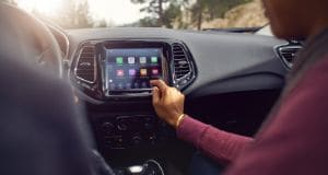 Jeep Compass interior with touchscreen