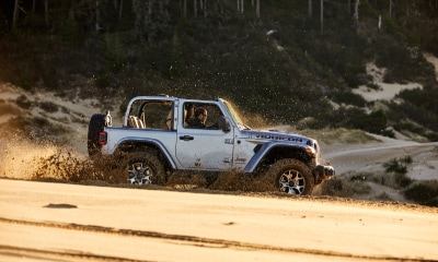 Jeep Wrangler off-road water