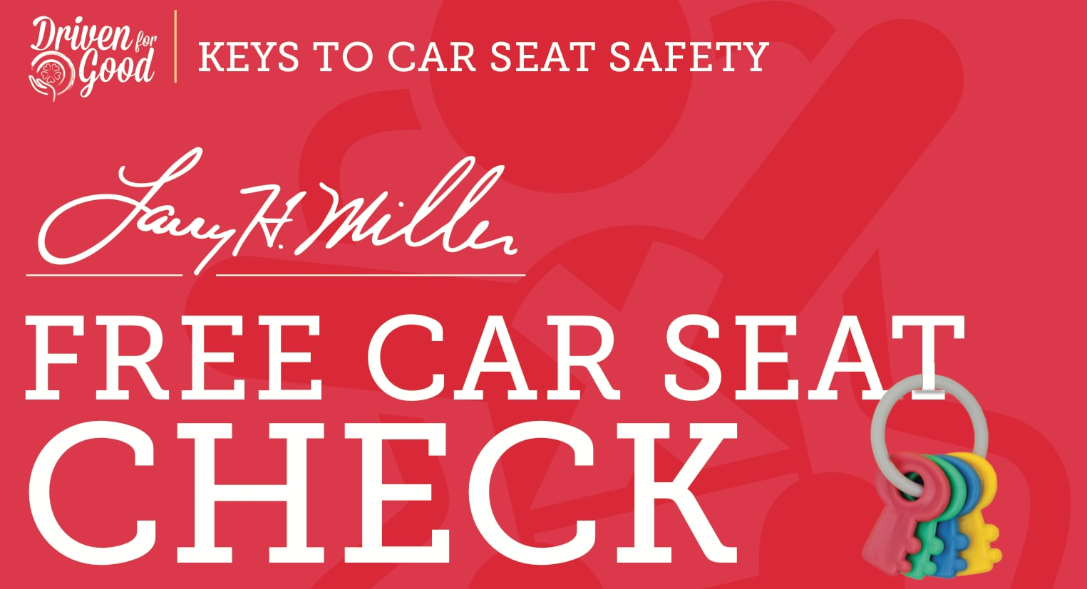 LHM Free Car Seat Check from Your Local Fire & Police Depts