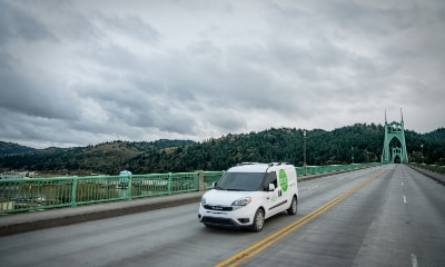 Ram ProMaster driving on a bridge