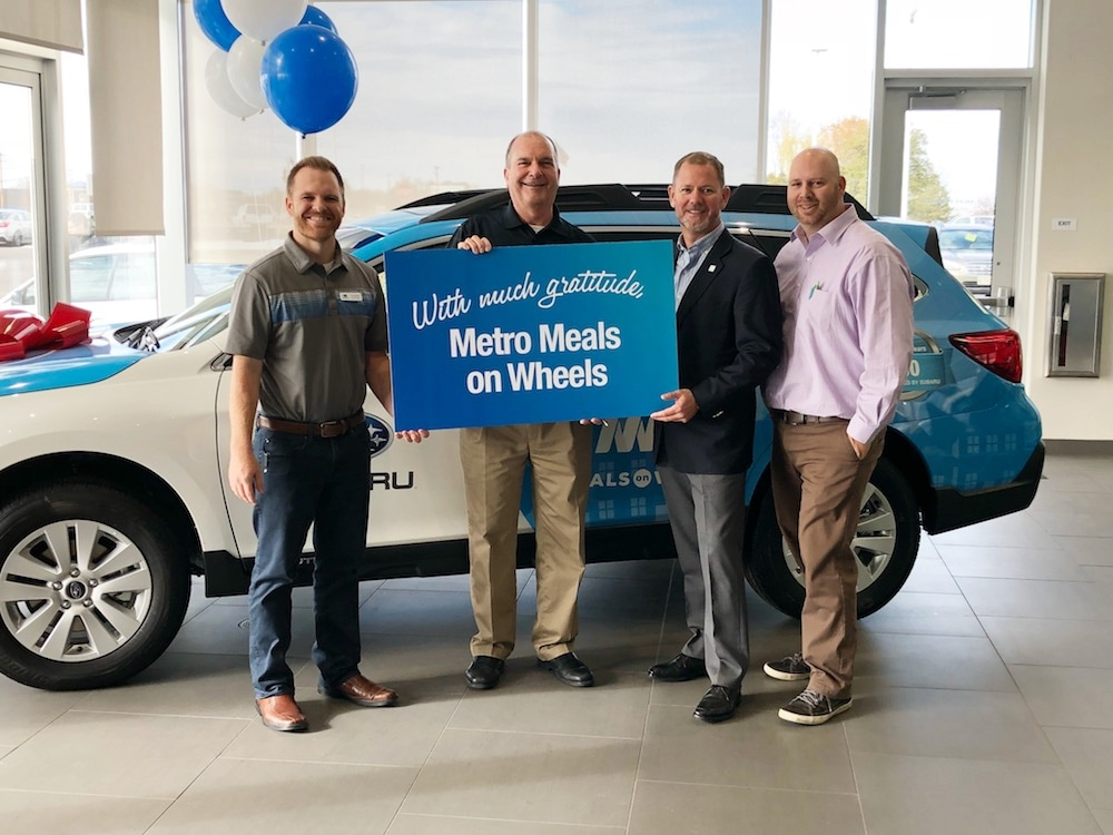 Metro Meals on Wheels Boise Receives a 2018 Subaru Outback